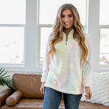Cotton Candy Fleece Half Zip Pullover - Arrow Twenty Two
