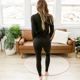 Comfy Black Leggings and Turtleneck Set - Arrow Twenty Two