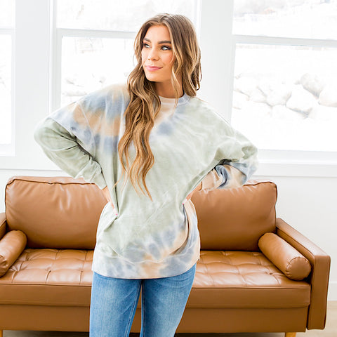 NEW! Stephanie Sage Tie Dye Sweatshirt - Arrow Twenty Two