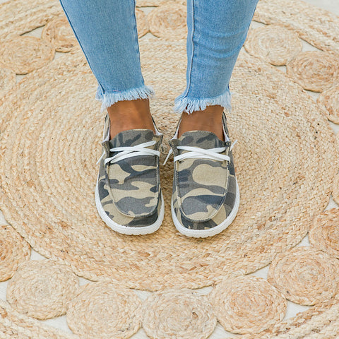 NEW! Hooray Camo Slip on Sneaker