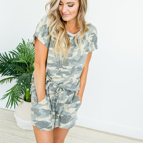 NEW! Faded Camo Lounge Shorts