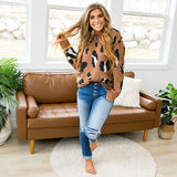 NEW! Madalyn Rust Leopard Sweater - Arrow Twenty Two