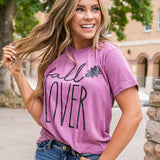 Plum Fall Lover Tee - Arrow Twenty Two