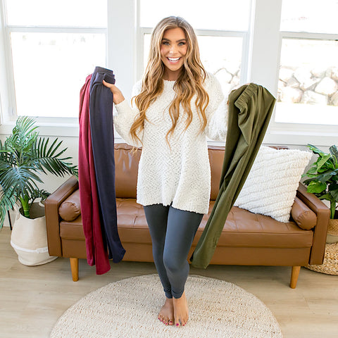 DOORBUSTER! Fleece Lined Leggings - 4 Colors