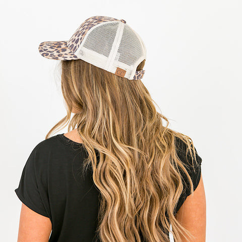 NEW! CC Leopard Ponytail Baseball Cap - Arrow Twenty Two