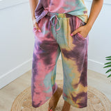 Jo Plum Tie Dye Lounge Crops - Arrow Twenty Two