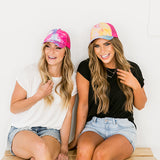 CC Pink Tie Dye Ponytail Baseball Cap - Arrow Twenty Two