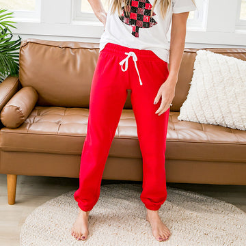 DOORBUSTER! Red Lounge Joggers