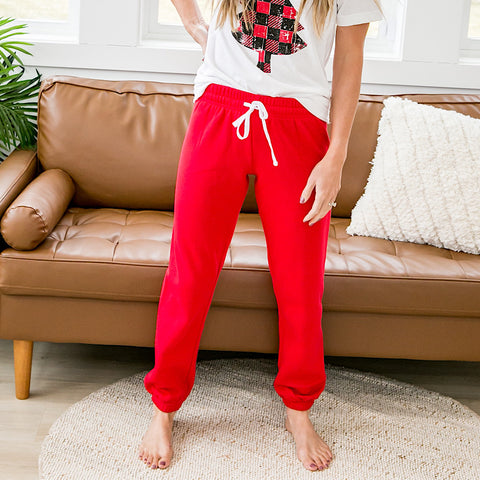Red Lounge Joggers