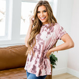 NEW! Kira Plum Tie Dye Tunic Top - Arrow Twenty Two
