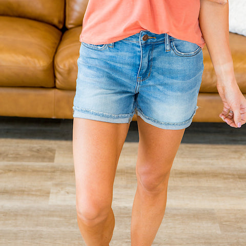 NEW! Judy Blue Vanessa Light Wash Shorts