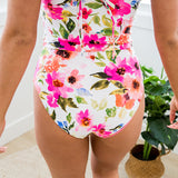 Coral Reef Pink Floral Reversible Swim Bottoms - Arrow Twenty Two