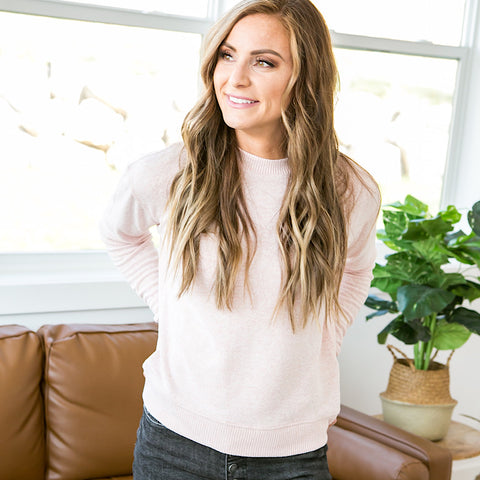 NEW! Rosalie Blush Sweater