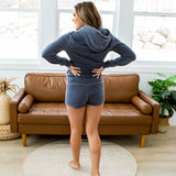 NEW! Burnout Navy Comfy Shorts - Arrow Twenty Two