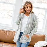 NEW! Sarah Camo and Heather Gray Open Front Hoodie - Arrow Twenty Two