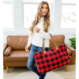 NEW! Red Buffalo Plaid Weekender Bag - Arrow Twenty Two