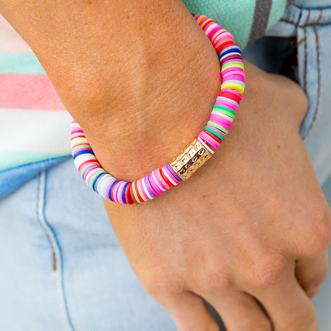NEW! Rainbow Bracelet With Gold Accent - Arrow Twenty Two