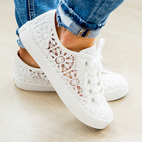 NEW! Very G Flirty Sneaker - White - Arrow Twenty Two