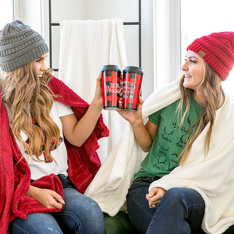 DOORBUSTER! Buffalo Plaid Travel Mug