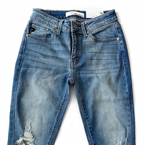 NEW! Distressed Knee and Fray Bottom Jeans - Arrow Twenty Two