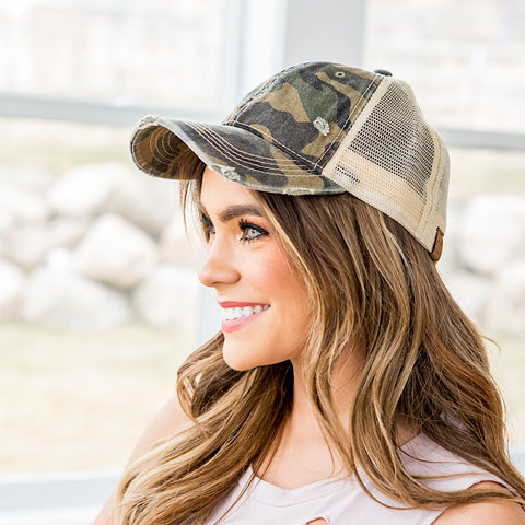 NEW! CC Faded Camo Baseball Cap - Arrow Twenty Two