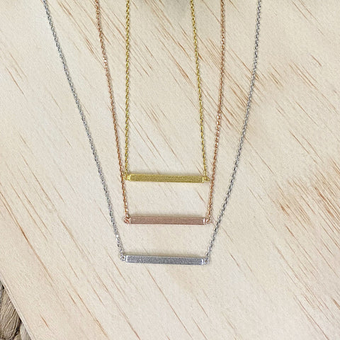 Bar Necklace - 3 Colors! - Arrow Twenty Two