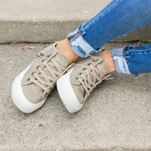 NEW! Blowfish Melondrop Taupe Wedge Sneaker - Arrow Twenty Two