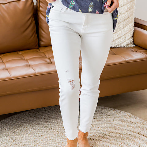 NEW! KanCan Layla White Jeans
