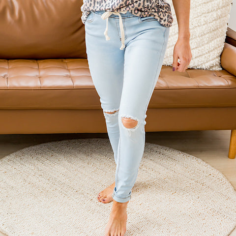Andrea Light Denim Jogger Jeans