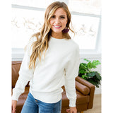 Bailey Ivory Burnout Favorite Sweatshirt - Arrow Twenty Two