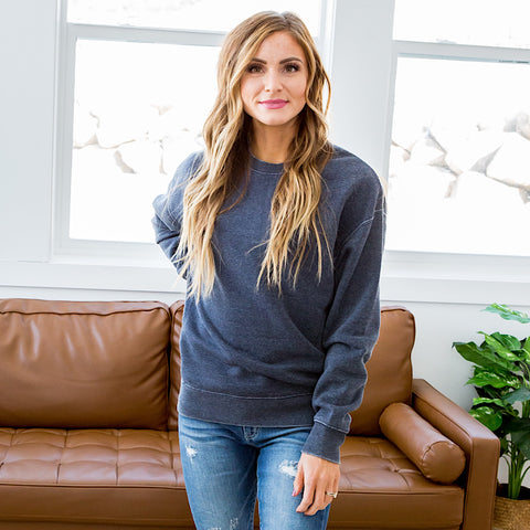 NEW! Bailey Navy Burnout Favorite Sweatshirt