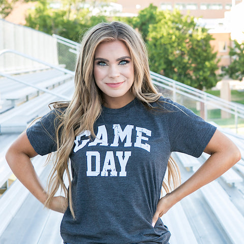 "NEW! ""Game Day"" Charcoal Tee"