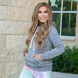 NEW! Ruby Gray Burnout Favorite Hoodie - Arrow Twenty Two