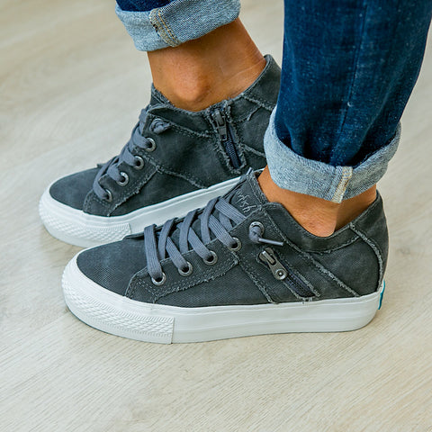 Blowfish Melondrop Gray Wedge Sneaker