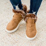 NEW! Plush Fur Lined Bootie - Tan - Arrow Twenty Two