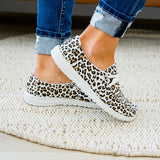 Gypsy Jazz Cheetah Slip on Sneaker - White Tan - Arrow Twenty Two