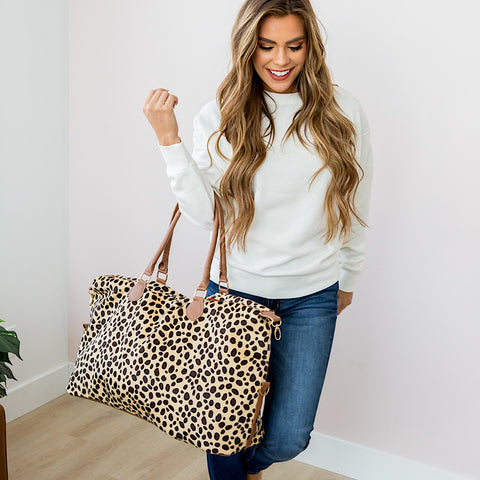 NEW! Cheetah Weekender Bag