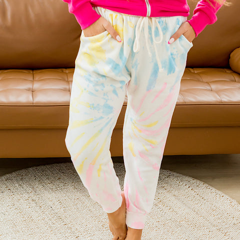 NEW! Pastel Tie Dye Joggers - Arrow Twenty Two