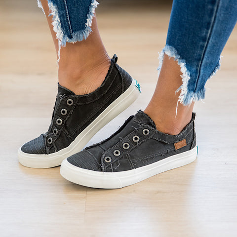 Blowfish Black Smoked Canvas Play Sneaker