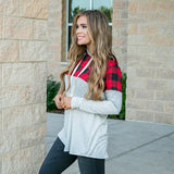 NEW! Kayla Buffalo Plaid and Stripes Hooded Top - Arrow Twenty Two