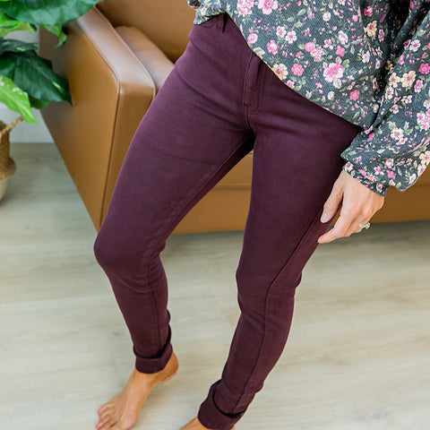 NEW! KanCan Arianna Burgundy Jeans - Regular and Plus! - Arrow Twenty Two