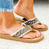 NEW! Gypsy Jazz Flip Flop Sandal - Cream Leopard - Arrow Twenty Two