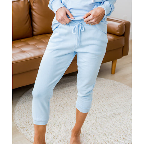 NEW! Baby Blue Capri Joggers - Arrow Twenty Two