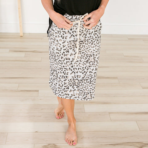 NEW! Leopard Midi Skirt - Arrow Twenty Two