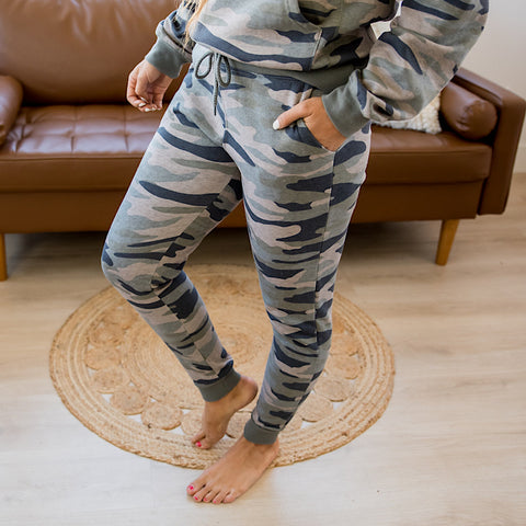 Forest Camo Lounge Joggers - Arrow Twenty Two