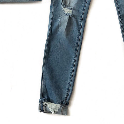 NEW! Favorite Medium Wash High Waist Distressed Jeans
