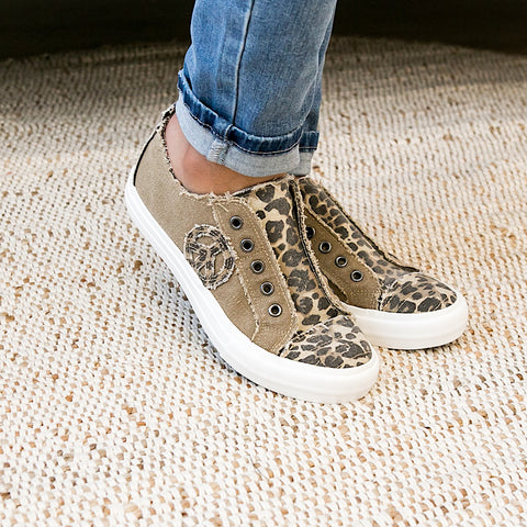 NEW! Gypsy Jazz Absolute Tan Leopard Slip on Sneaker