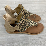 Sparta Leopard Sandals - Arrow Twenty Two