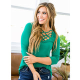 NEW! Holly Green Criss Cross Tunic - Arrow Twenty Two