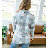 NEW! Henley Pastel Plaid Fleece Pullover - Arrow Twenty Two